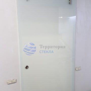 Откатная межкомнатная дверь — стекло 8 мм, триплекс молочный. Раздвижная система «Вектор»