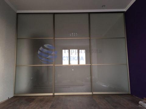 Перегородка-купе, стекло 4мм мателюкс