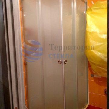 Душевая угловая раздвижная мателюкс с 2-мя дверьми