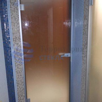 Дверь бронза в алюминиевой коробке
