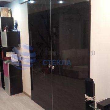Двери раздвижные, стекло 8мм бронза, скрытая раздвижная система