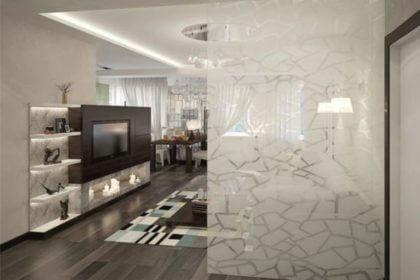 Стеклянная перегородка для квартиры в Самаре, перегородка из стекла в Самаре