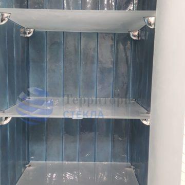 Стеклянные полки в нишу, стекло матовое 6мм оптивайт