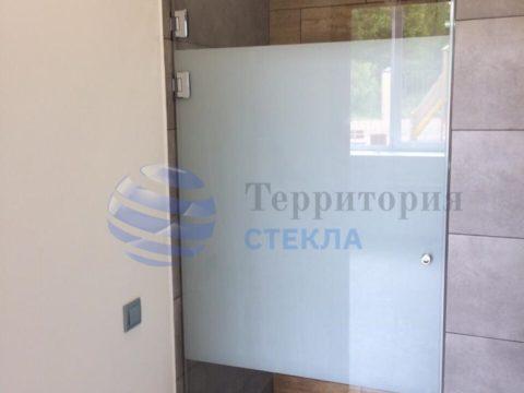 Душевая дверь с матовой пленкой, стекло 6мм прозрачное