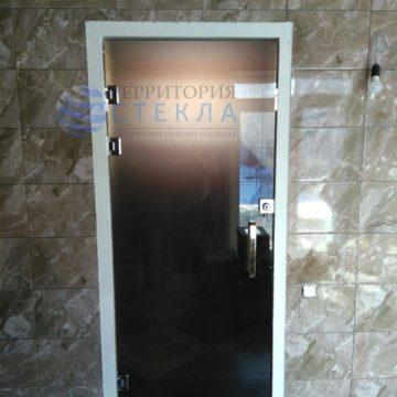 Дверь с замком Бронза матовая