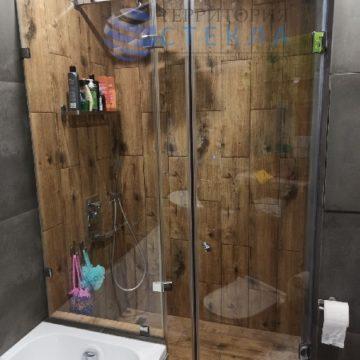 Дешевая трапециевидная с распашной дверью из прозрачного стекла 8 мм