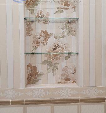 Полочки в нишу из прозрачного стекла